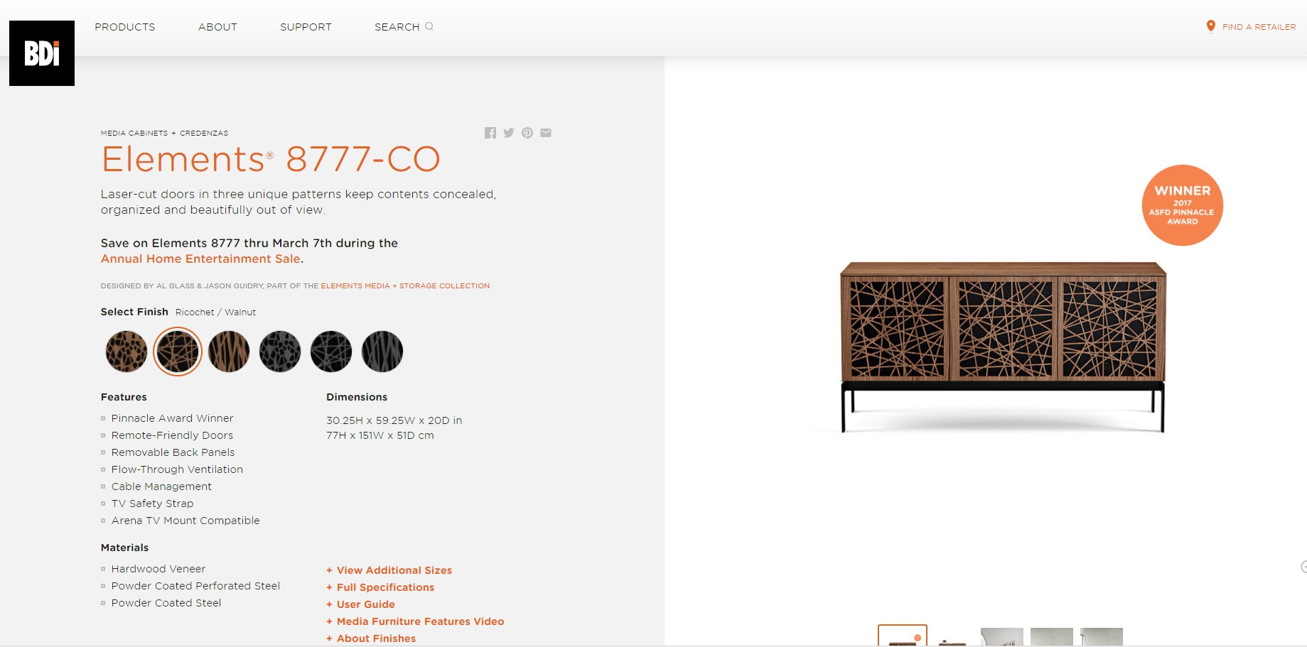High-quality 3D Lifestyle Rendering for Credenza Online Promotion