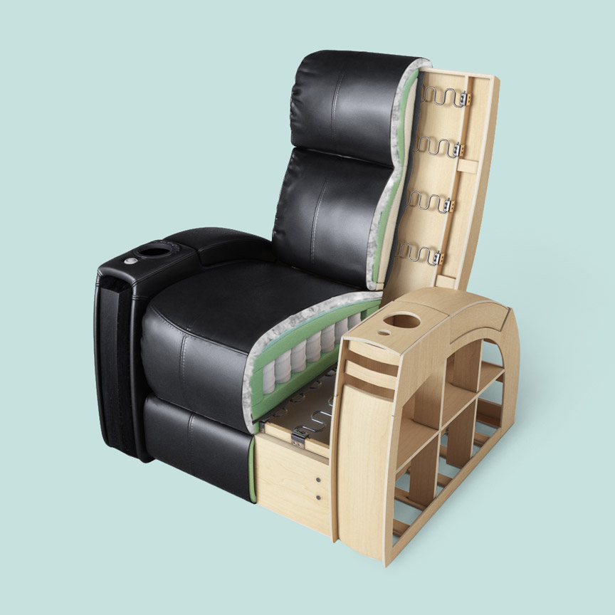 3D Armchair Cutout Image for Product Design Presentation