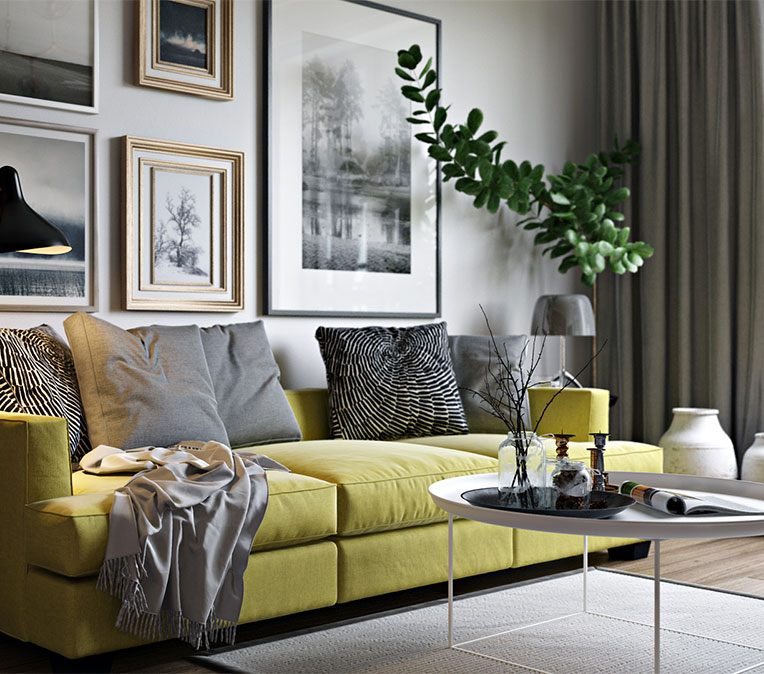 Product Lifestyle To Showcase a Gorgeous Sofa Design