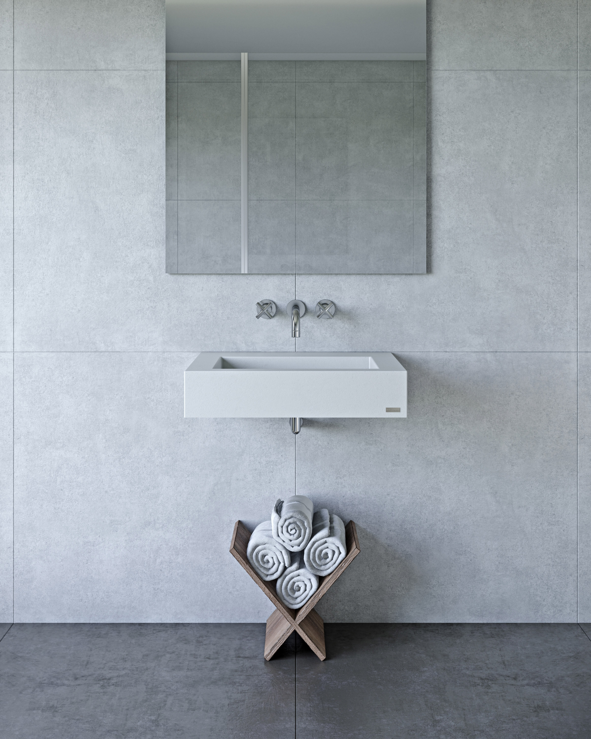 White Sink CG Rendering for Product Images