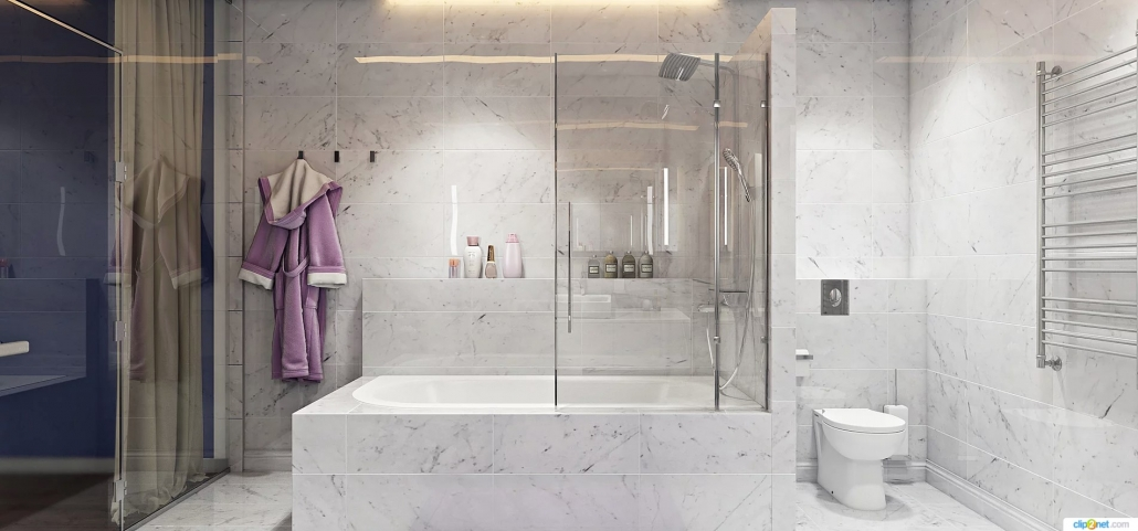 3d rendering lifestyle of bathroom tile