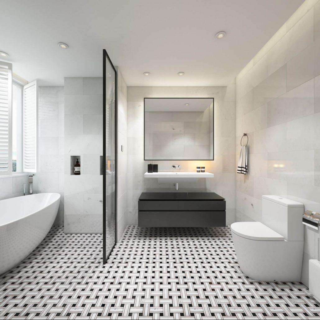 Tiles Design 3D Rendering