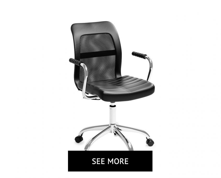 Black Chair 3D Visualization for a Print Catalog