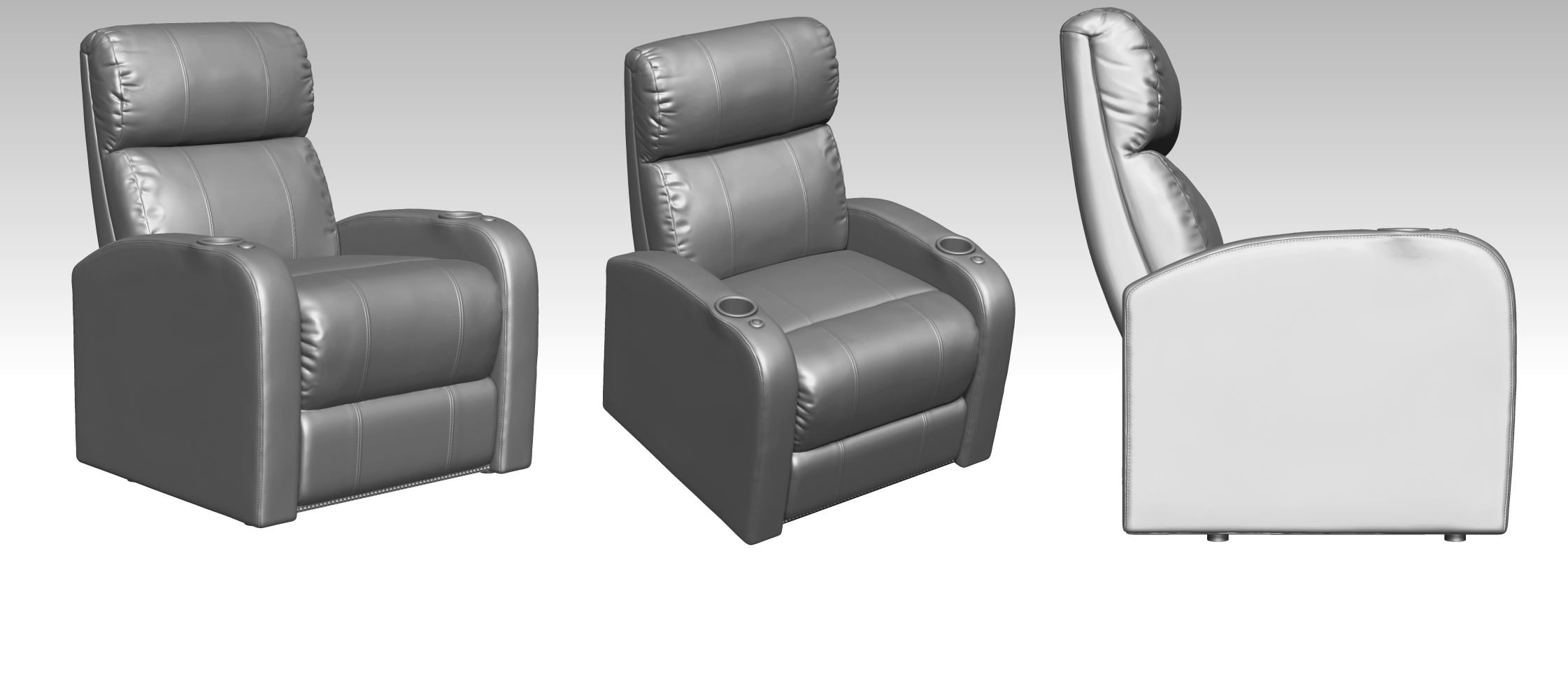 3D Models for a Luxurious Armchair Design