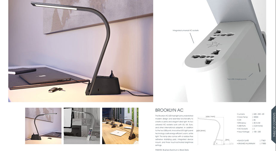 AC Brooklyn Lamp 3D Renderings for Product Portfolio