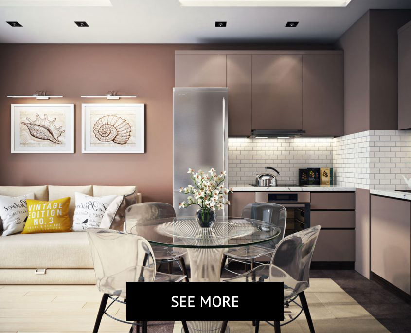 CG Lifestyle Showing a Pretty Kitchen High-end CG Lifestyle for Kicthen in Pink