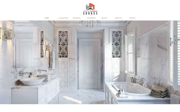 White Marble Finishes 3D Lifestyle