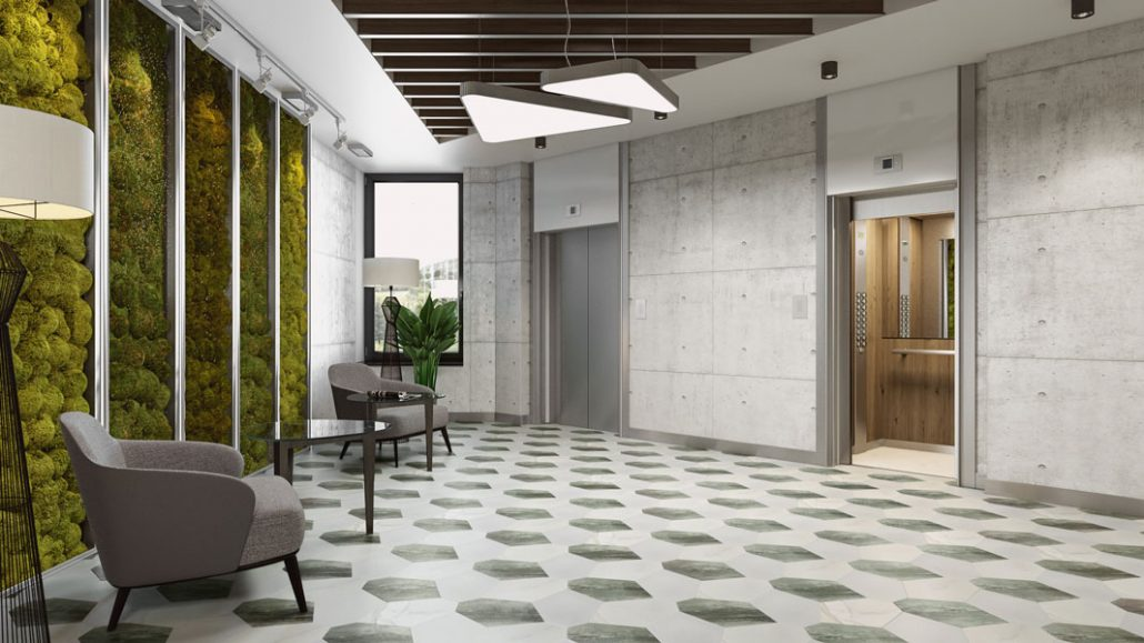 High-quality 3D Lifestyle for Hall Tiles