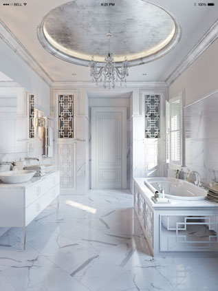 Atmospheric CG Lifestyle for Classy White Finishes