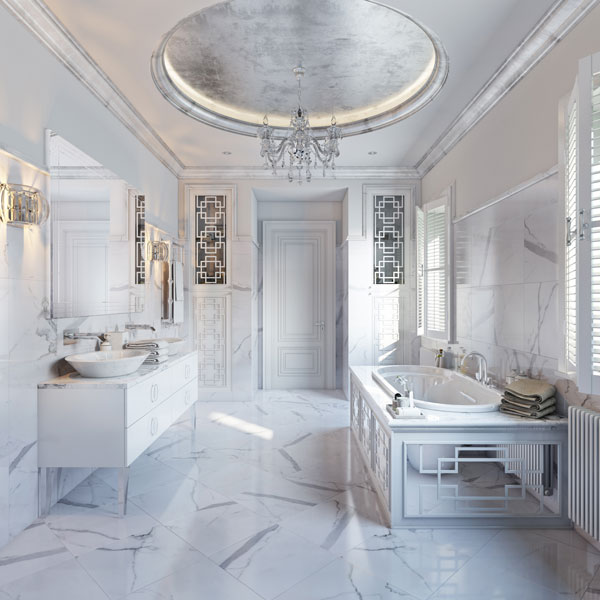 Product 3D Lifestyle for White Marble