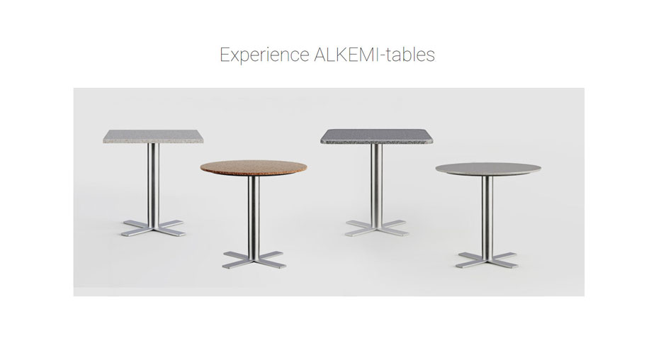 3D Visualization showing Tables on the Product Page