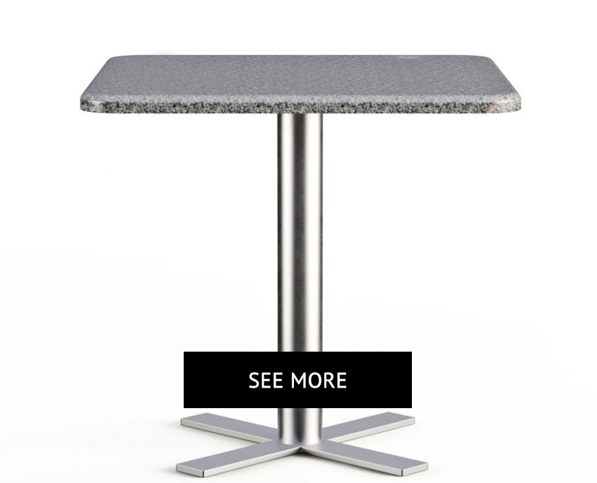 Square Top Table in Gray for a Product Page