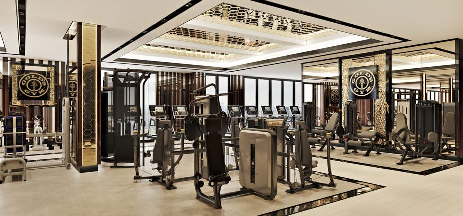 High-end 3D Render of a Gym Interior