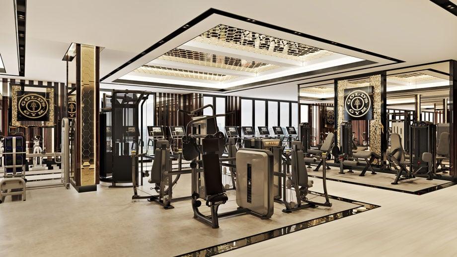 High-end 3D Render of a Gym Interior