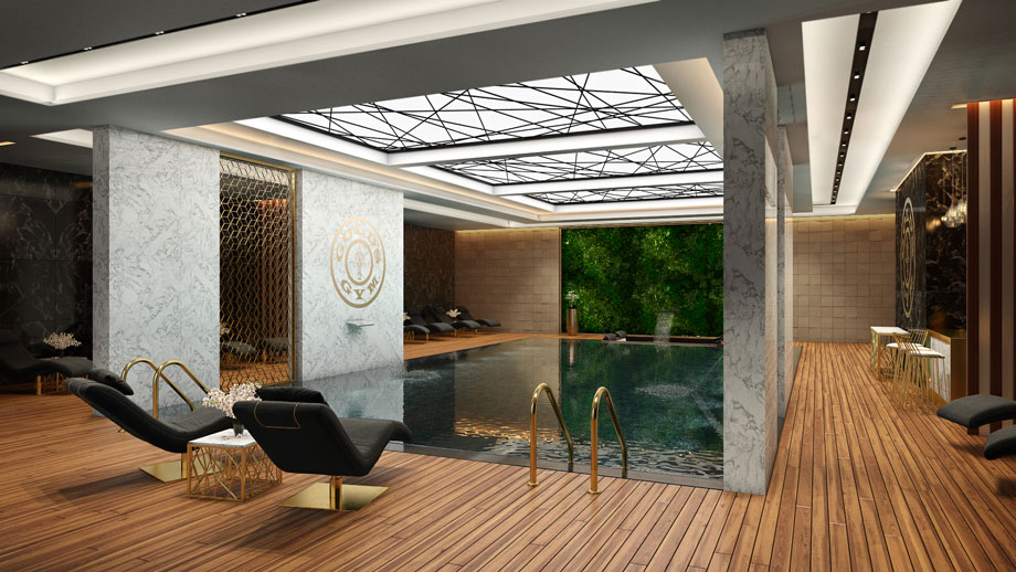 High-quality 3D Visualization for a Swimming Pool