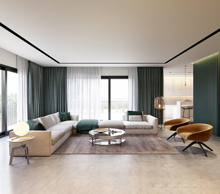 3D Visualization for Living Room Furniture