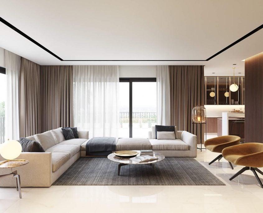 Photorealistic Sofa CGI in a Roomset