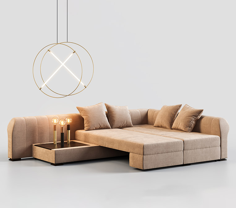 Sofa 3D Modeling for a Catalog