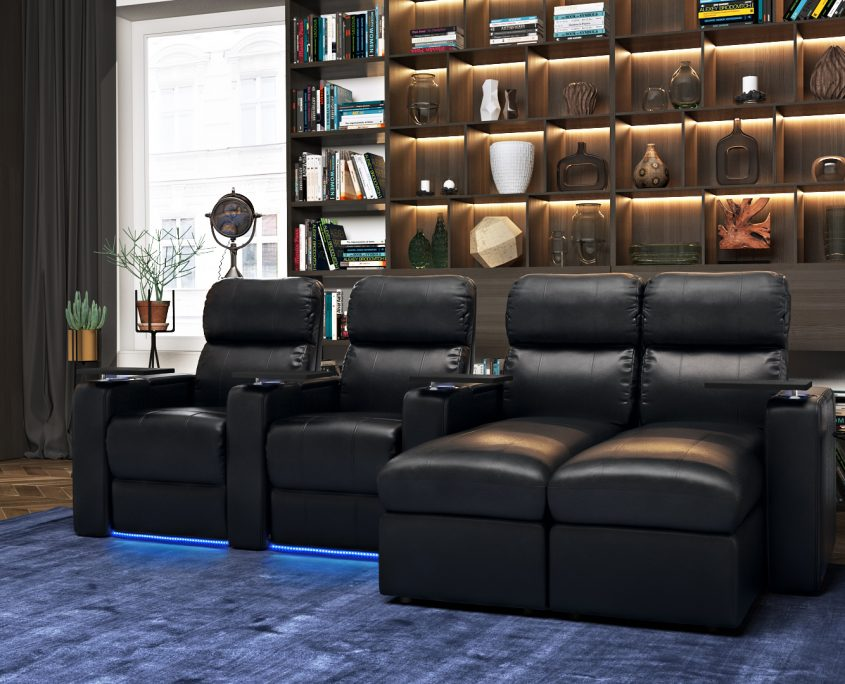 Product 3D Modeling for Leather Furniture in a Living Room