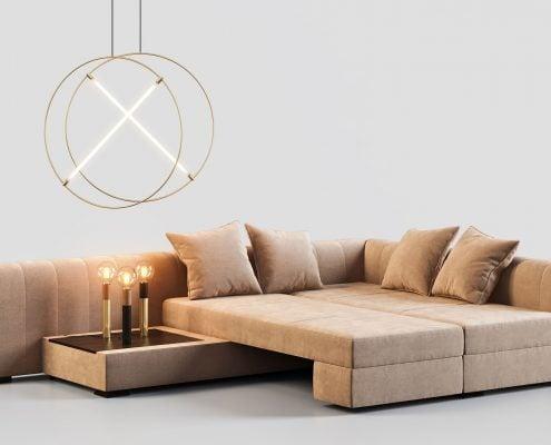 Furniture 3D Rendering featuring a Sofa