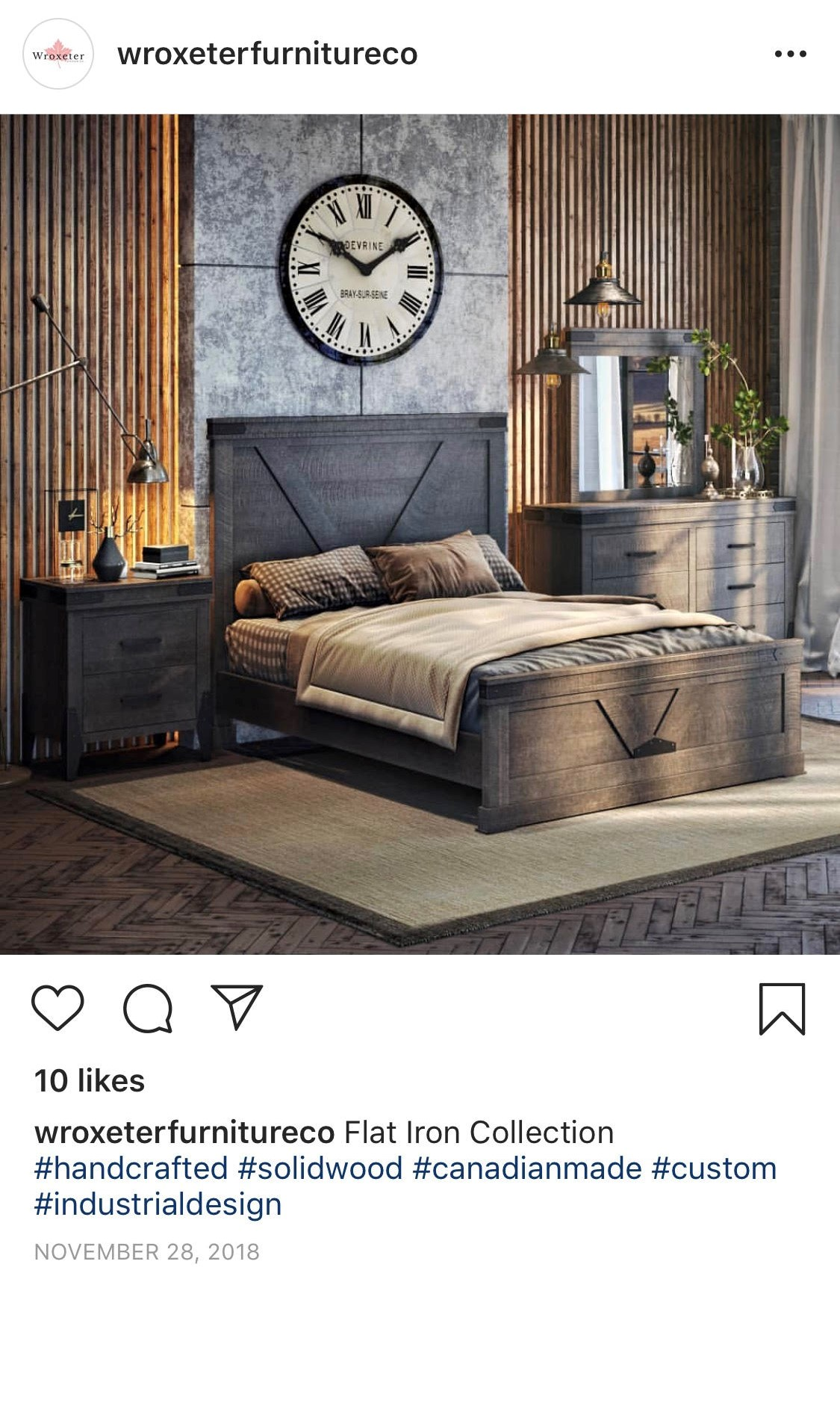 Facebook Ad with Bedroom Furniture 3D Rendering