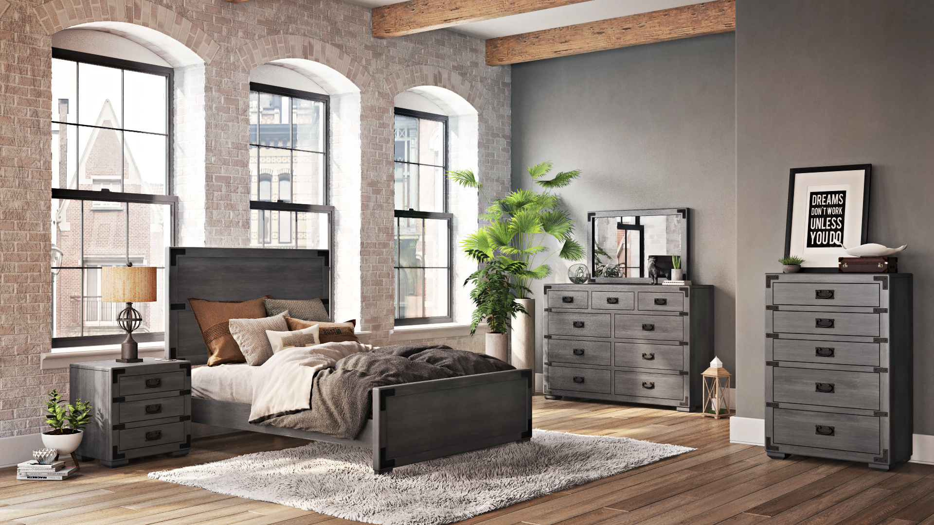 Bedroom Furniture Set for Product Advertising