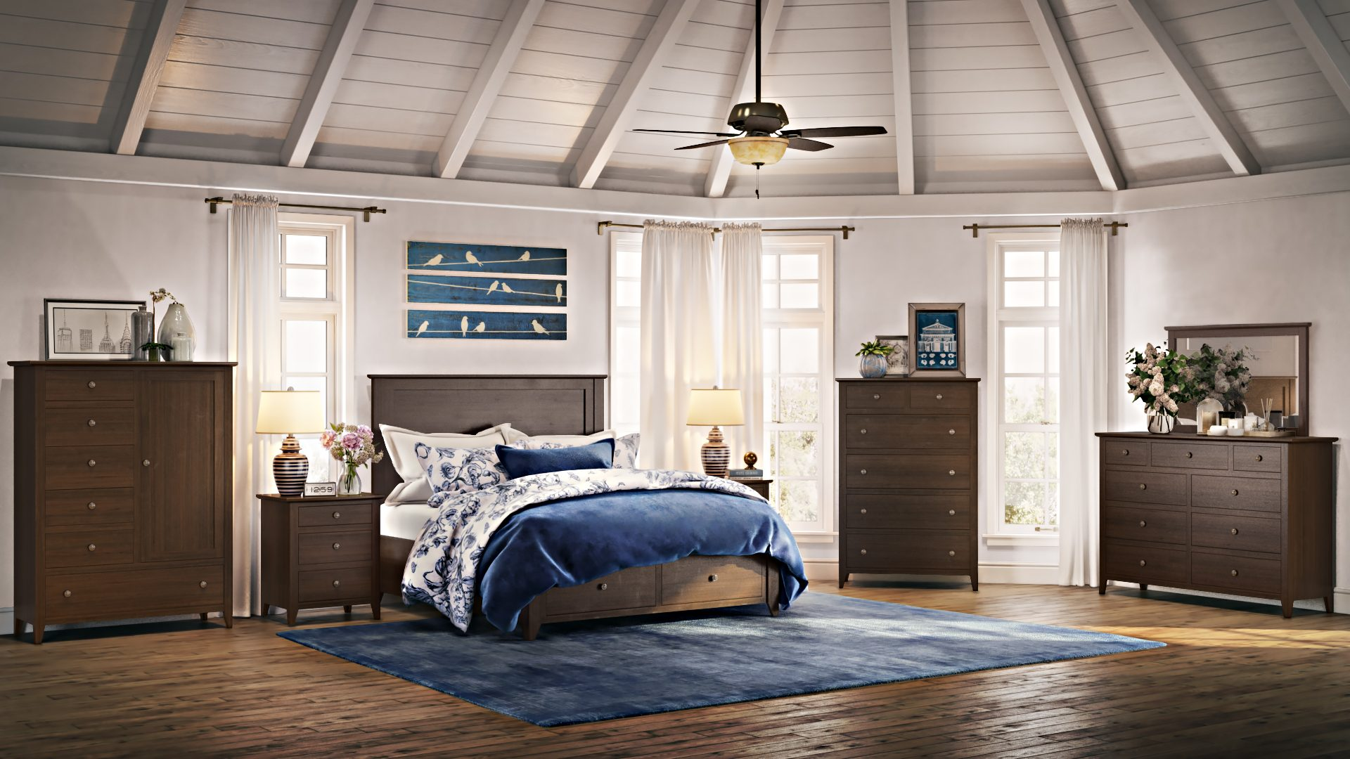 Bedroom Furniture 3D Rendering for Product Ads