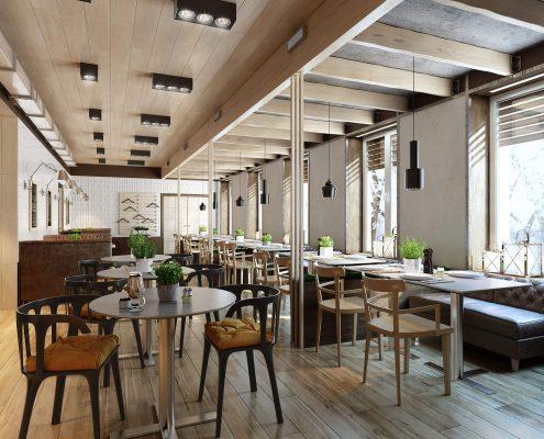 3D Modeling for Restaurant Scene to Showcase Furniture Design