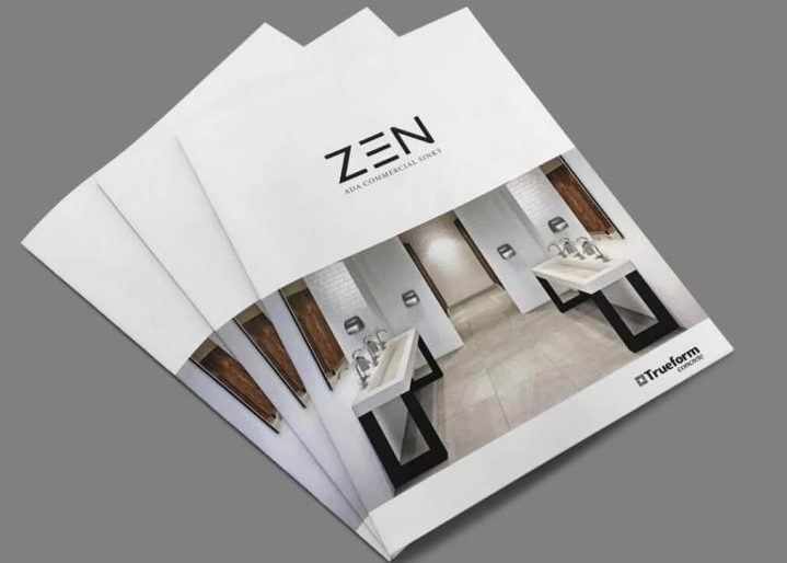 Three Illustrated Marketing Collateral Pieces to Advertise ZEN Brand
