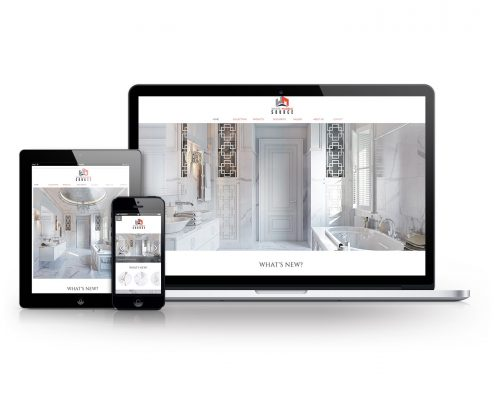 Furniture Company's Web Store Reinforced by Marketing Collateral on Different Devices