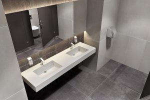 Ceramic Washroom Sinks 3D Visualization