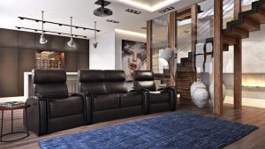 Luxury Leather Armchairs Lifestyle 3D Visualization