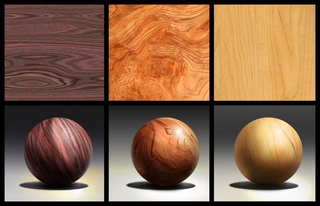 Wooden Material References for Furniture 3D Modelling