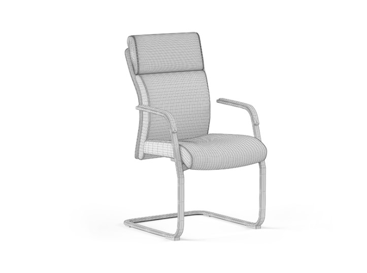 A High-Poly Chair 3D Model for a Furniture Project