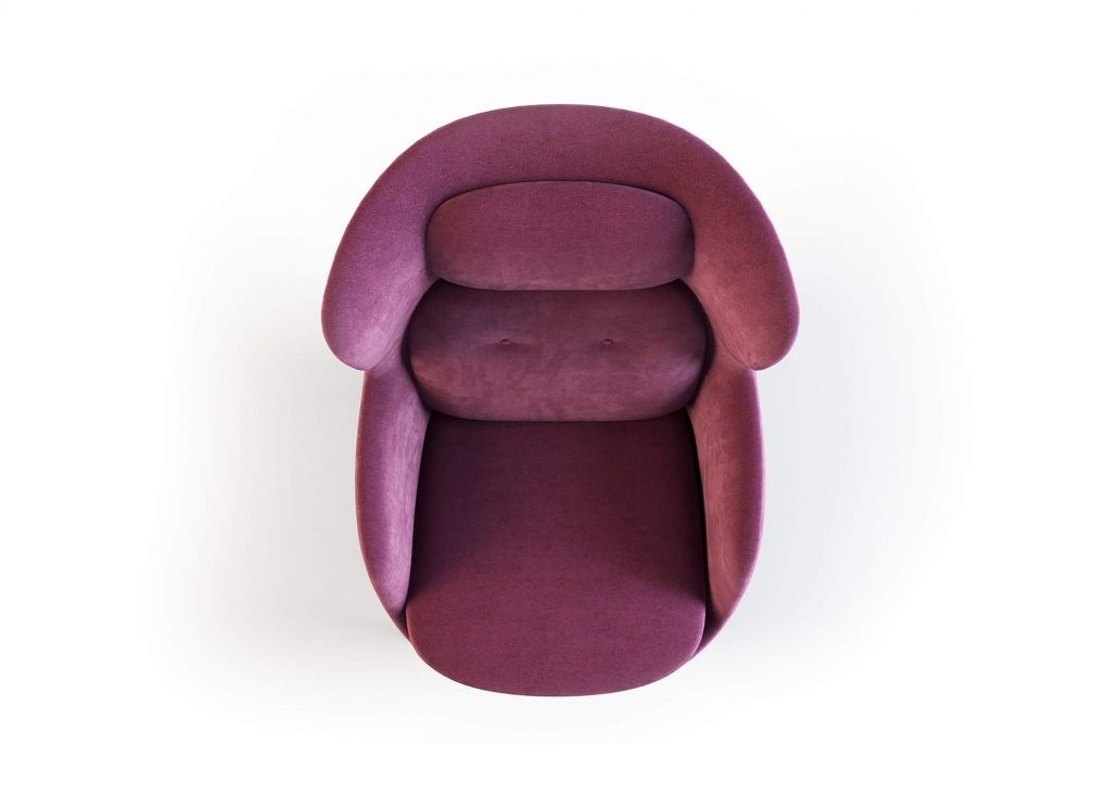 Product 3D Visualization for a Armchair On The White Background