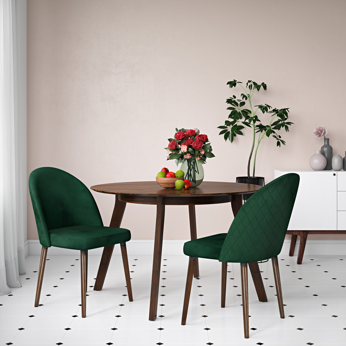 Dorel Kitchen Chairs 3D Rendering