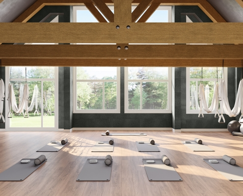 Yoga Gym Soundproofing System Rendering