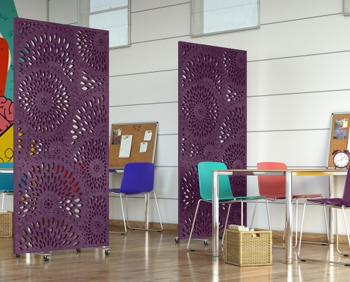 Office Soundproofing Divider Rendering
