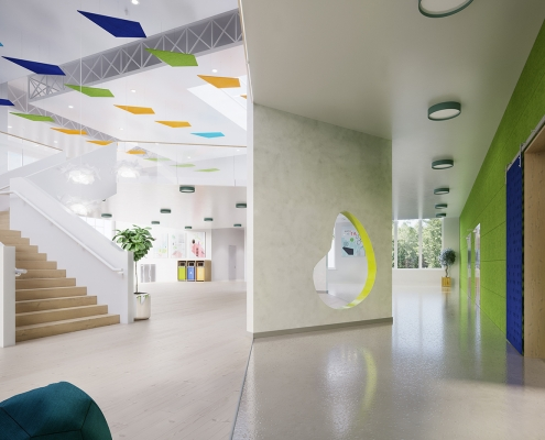 3D Visualization for an Office Soundproofing System by Lamvin