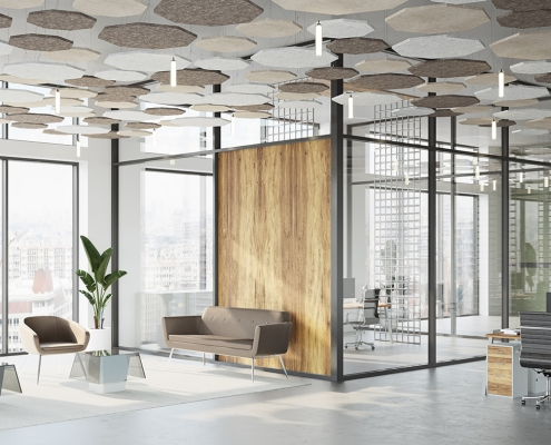 Office Noise Control System Rendering