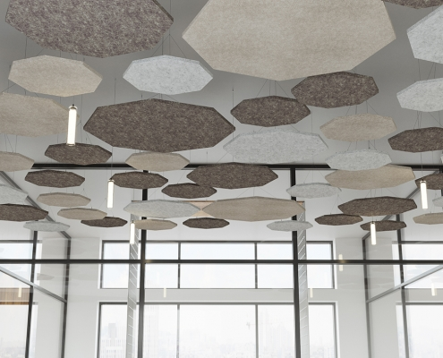 Office Noise Control Ceiling Products Rendering
