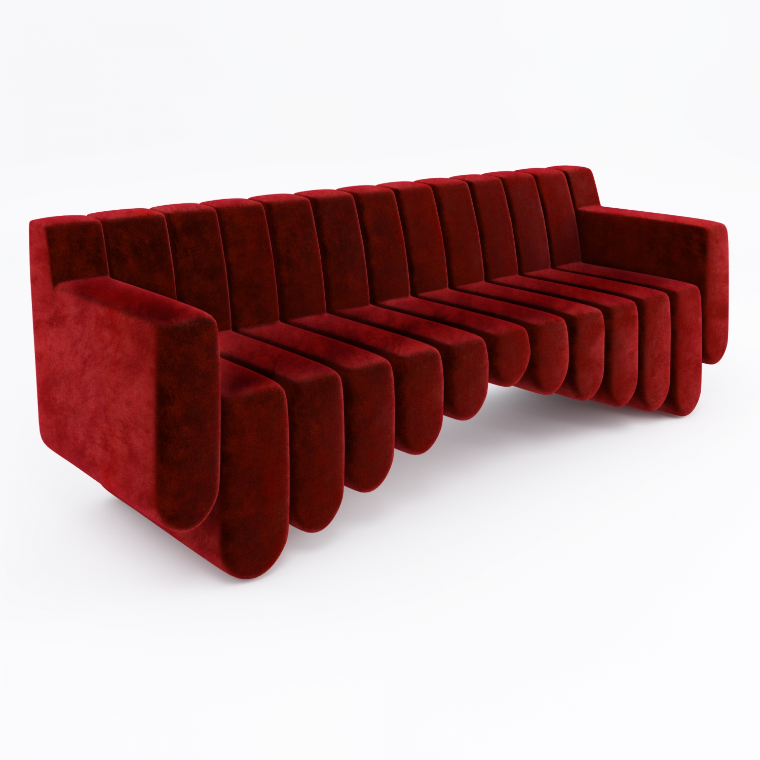 Product Visualisation for a Sound Sofa in Red