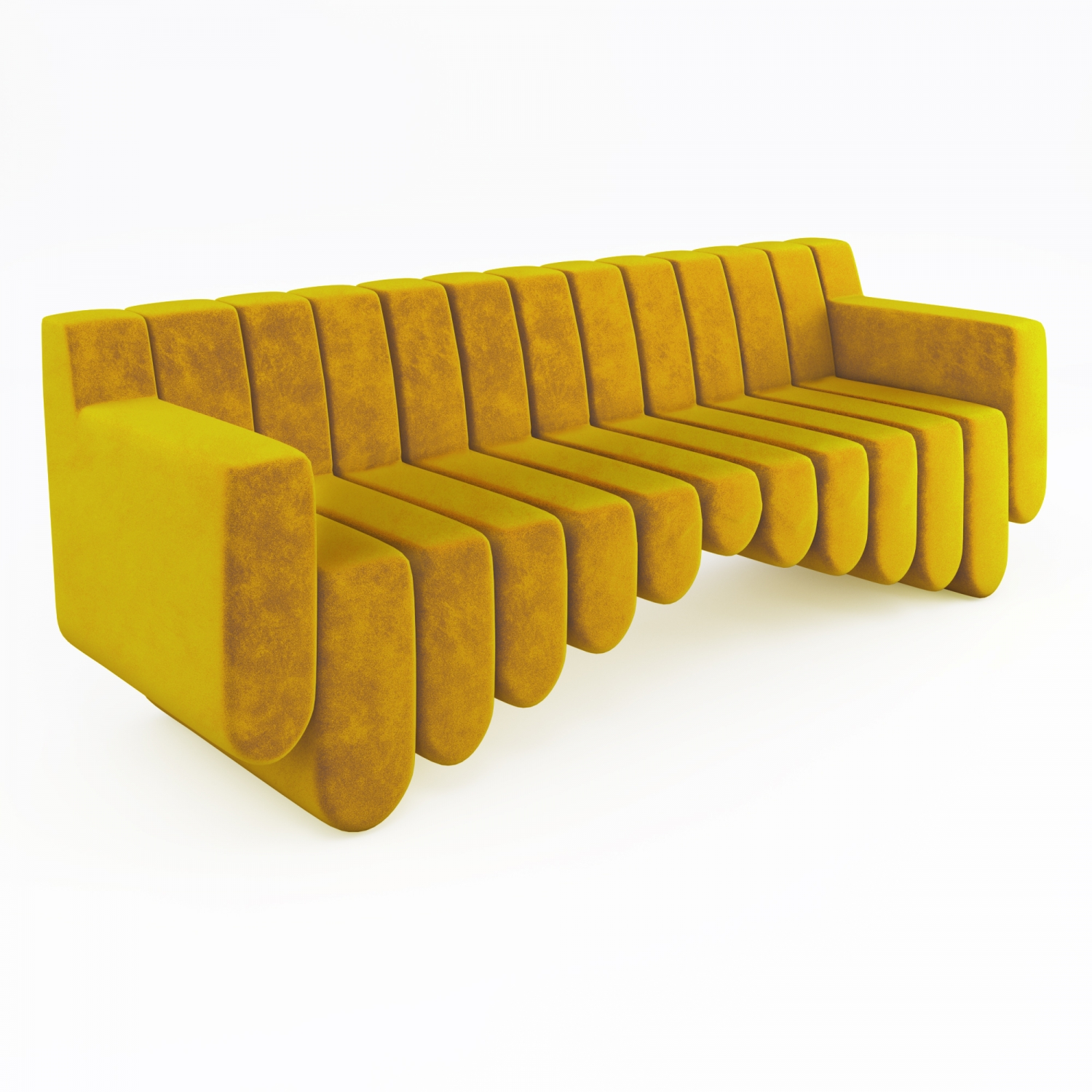 Product Visualisation for a Gorgeous Yellow Sofa