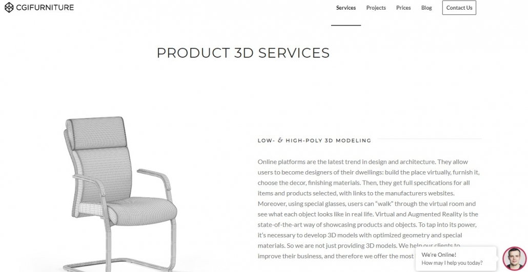 CGI Furniture for Product Images