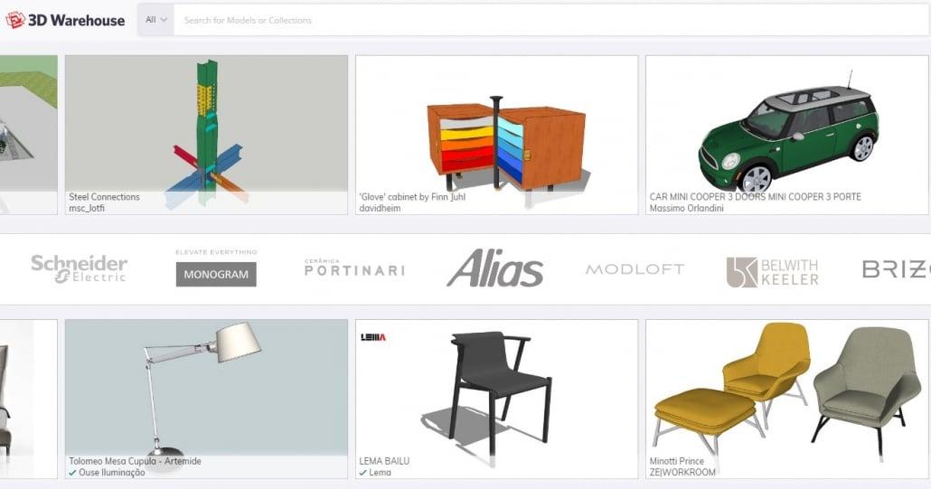 3D Warehouse: 3D Models for Downloading