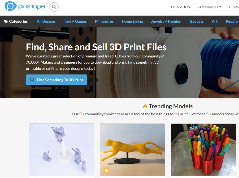 Pinshape: 3D Modeling for Professionals
