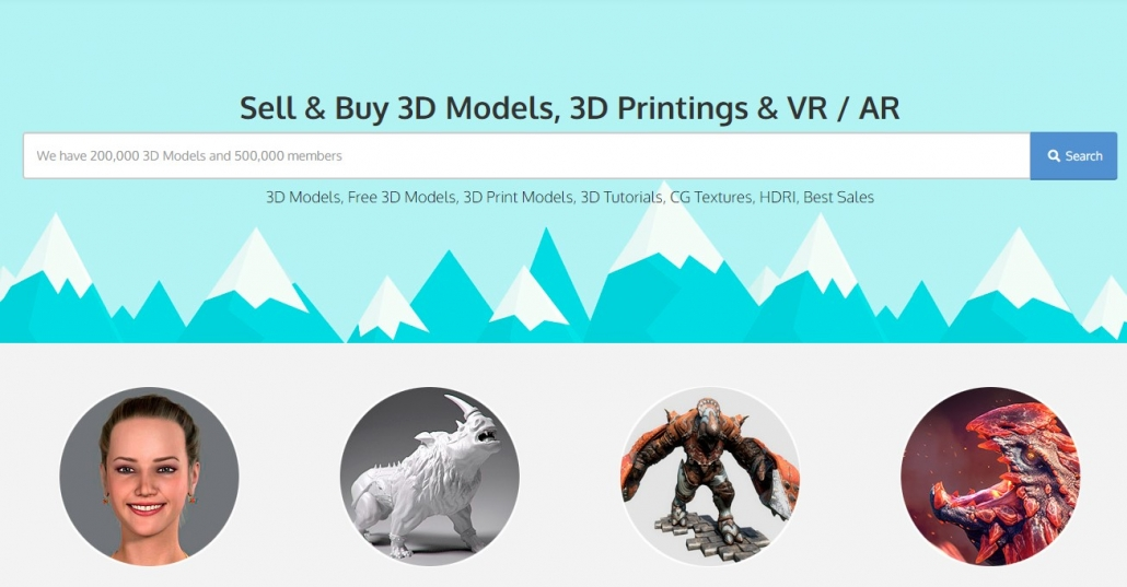 3DExport: a Website of Free and Paid 3D Models