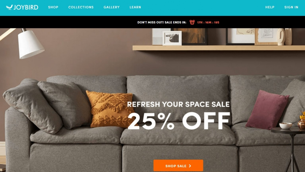 Ecomm Furniture Website Joybird