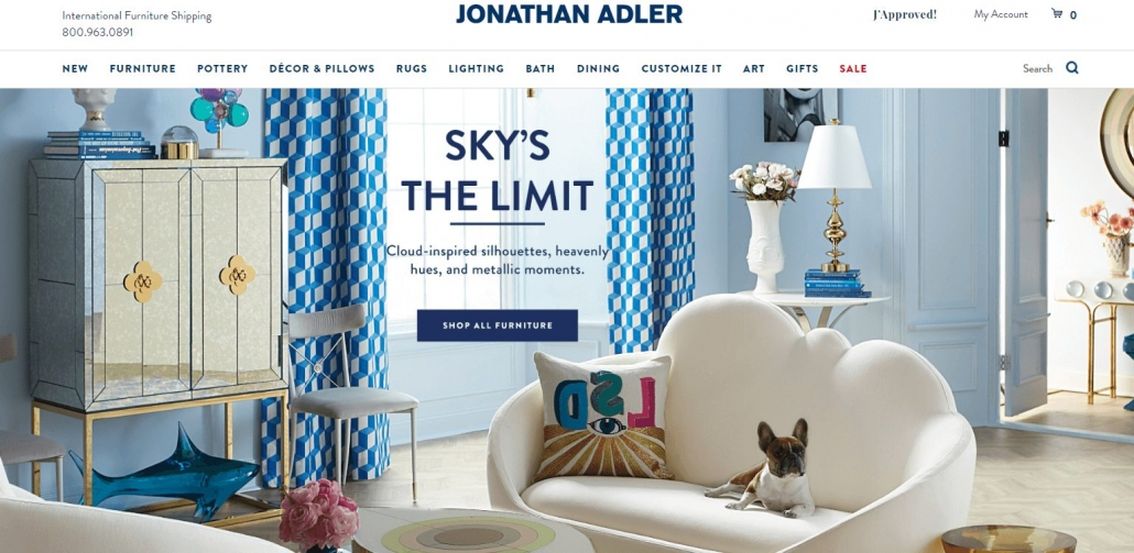 Furniture & Decior Ecomm Site Jonathan Adler