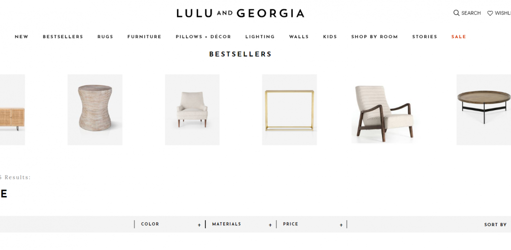 Furntiure and Decor Online Shop Lulu & Georgia